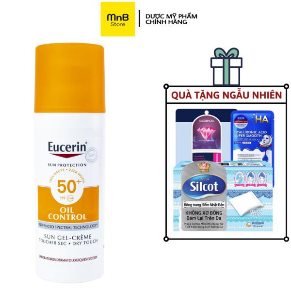 Kem chống nắng Eucerin Oil Control kiềm dầu thoáng nhẹ không gây mụn 50ml