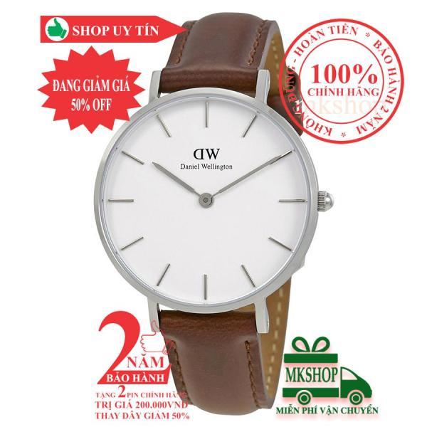 Đồng hồ nữ DanieI Wellington Classic Petite Bristol- 32mm- Màu Bạc (Silver) DW00100183