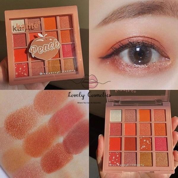 Bảng phấn mắt Karite Peach 16 ô giá rẻ