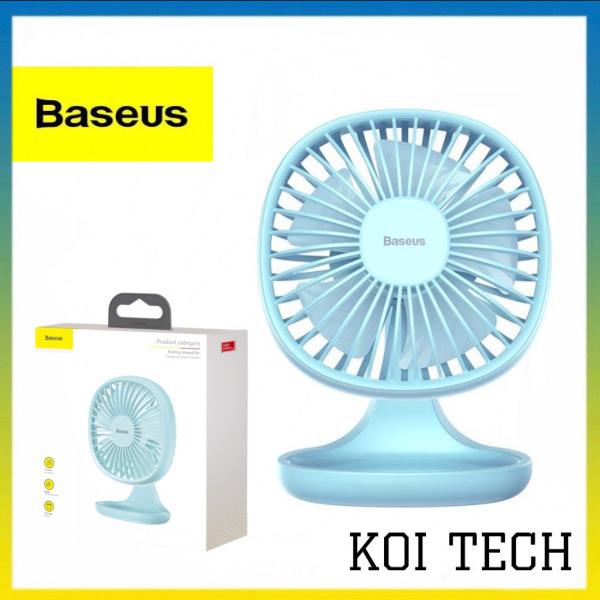 Quạt điện tích điện mini Baseus - Quạt điện để bàn di động tiện lợi Ventiladors USB Mijia -  Quạt cực êm mùa hè mát 5 cánh quạt