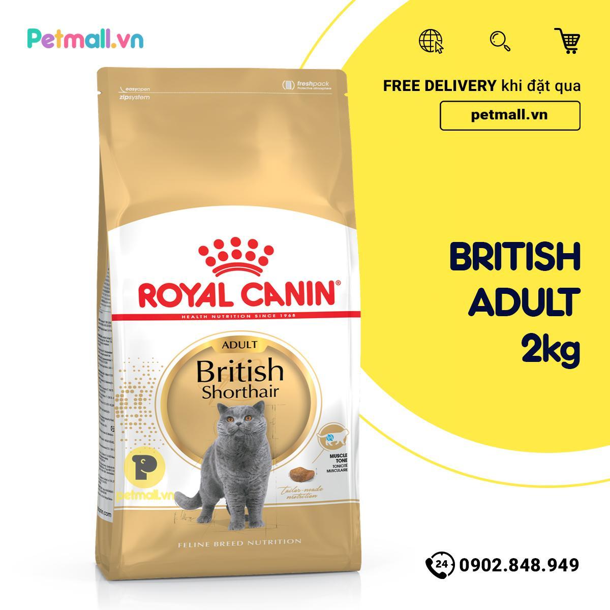Thức ăn Mèo Royal Canin British Shorthair Adult 2kg Giá Cực Cool