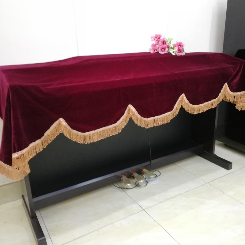 KHĂN PHỦ ĐÀN PIANO ĐIỆN VẢI NHUNG ĐỎ CAO CẤP,KÍCH THƯỚC 190  X 80