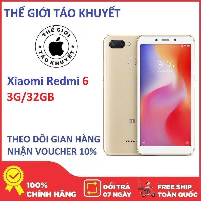 Điện thoại Xiaomi Redmi 6 - 3G/32G - Chip Helio P22 - Camera 12MP - Có Tiếng Việt - Bảo hành 12T - Thế Giới Táo Khuyết