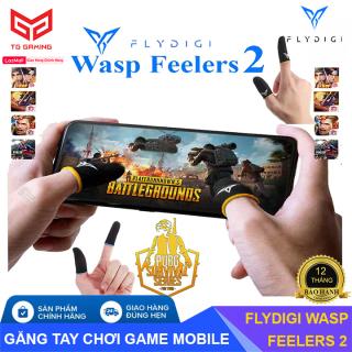 [ LOẠI CAO CẤP ] Flydigi Wasp Feelers 2 Găng tay chơi game Mobile siêu nhạy, siêu co dãn, siêu mỏng nhẹ như chơi tay trần, Bao tay chơi Game, Ngón tay chơi game - Hãng phân phối chính thức thumbnail