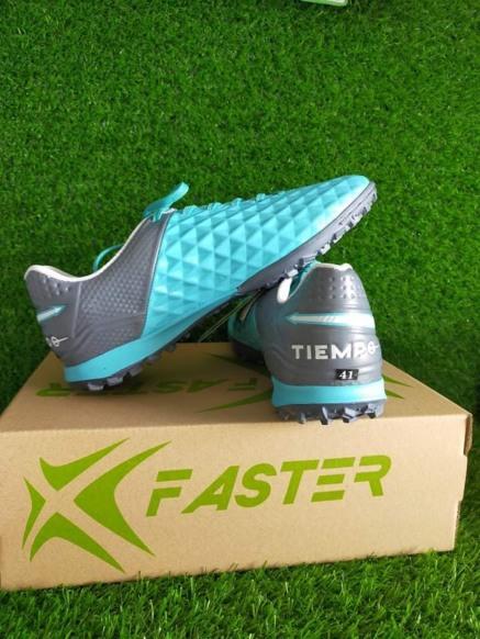 Giày đá bóng Xfaster Tiempo ruby xanh ngọc TF (tặng vớ) giá rẻ