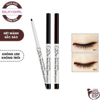 Chì Kẻ Mắt Nét Mảnh Cho Đôi Mắt Sắc Sảo Silkygirl Perfect Stay 20Hr Eyeliner 0.28g thumbnail