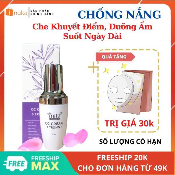 [Mua 1 Tặng 1]Kem CC Cream Dưỡng Ẩm, Kiềm Dầu, Trắng Da 5 IN 1 MITA (30ML)- cao cấp