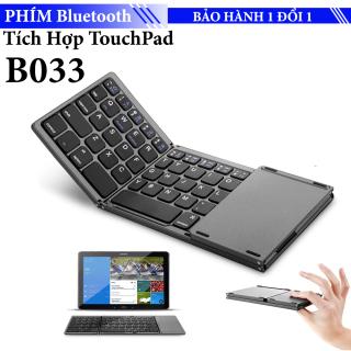 Bàn phím gấp 3 rút gọn B033 Bluetooth 3.0 cho Điện Thoại Máy Tính Bảng Laptop PC - Hỗ trợ cả Android và IOS thumbnail
