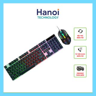 Bàn phím giả cơ gaming và chuột gaming,bàn phím máy tính văn phòng Shipadoo Đèn LED 7 Màu thumbnail