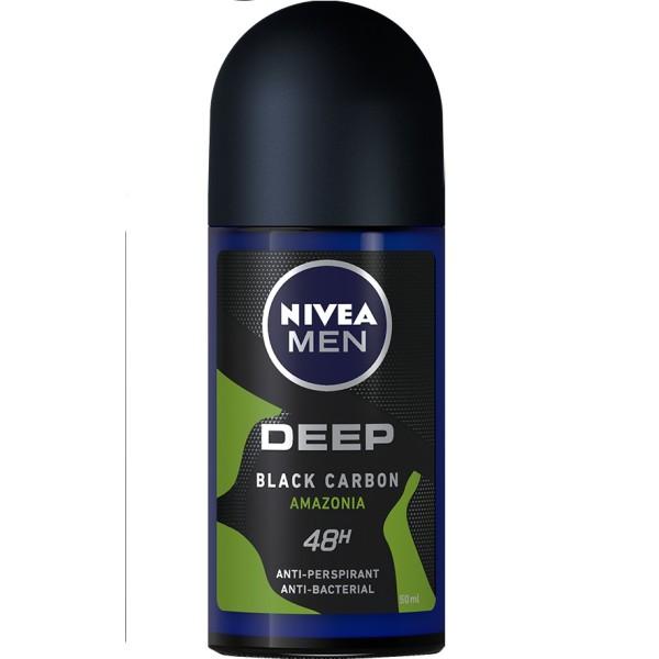 Lăn ngăn mùi NIVEA MEN Deep than đen hoạt tính hương rừng Amazon (50ml) giá rẻ