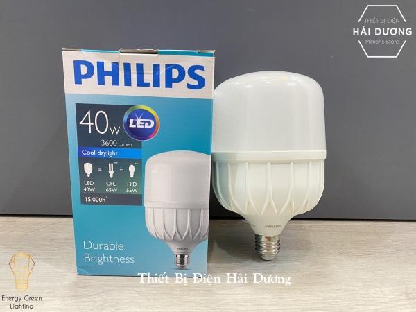 Bóng đèn Philips 40w LED TForce core HB - Đèn Led trụ Siêu sáng Bảo vệ mắt