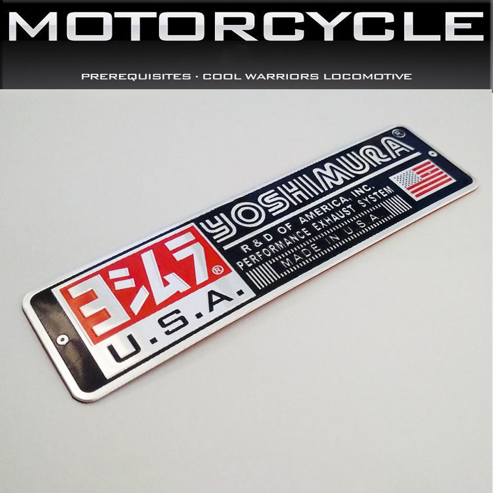 Tem kim loại nổi dán pô xe máy, Dán cản pô xe máy, Kích thước 14*3.8cm - Nhôm nổi khắc CNC Không phai JH105