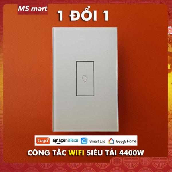 Công tắc thông minh SIÊU TẢI 20A điều khiển qua app Tuya Smart life - dùng cho điều hòa cỡ lớn, nóng lạnh MS Mart
