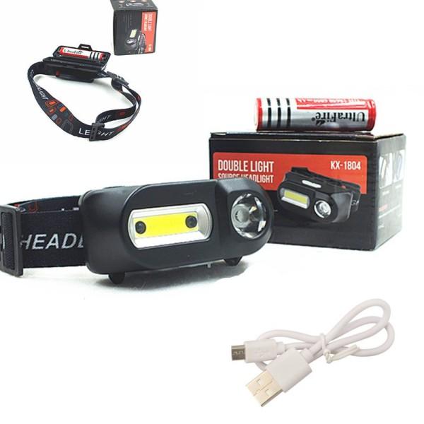 Bảng giá [HCM]Đèn đội đầu sài pin 18650 sạc USB