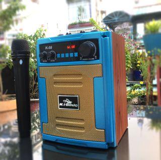 [HCM]Loa bluetooth thùng gỗ Karaoke di động Kiomic K58 K59 - Tặng kèm 1 không dây - Bảo hành 1 đổi 1 - Giao hàng toàn quốc thumbnail