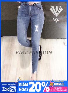 Quần Jean Nữ Lưng Cao Chất Liệu Đẹp PV60 ( SET QUẦN JEAN + ÁO THUN ĐẶT RIÊNG ) thumbnail