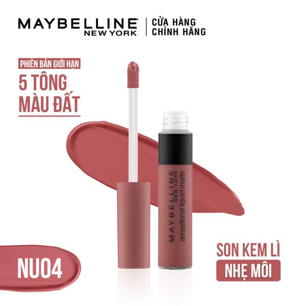 Son kem lì nhẹ môi Maybelline New York phiên bản tông đất Sensational Liquid Matte The Nudes Lipstick giá rẻ