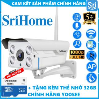 SriHome SH027(1080P) Camera IP Wifi giám sát ngoài trời [CHÍNH HÃNG] [BẢO HÀNH 5NĂM] [KÈM THẺ 32GB TÙY CHỌN MÃ] thumbnail