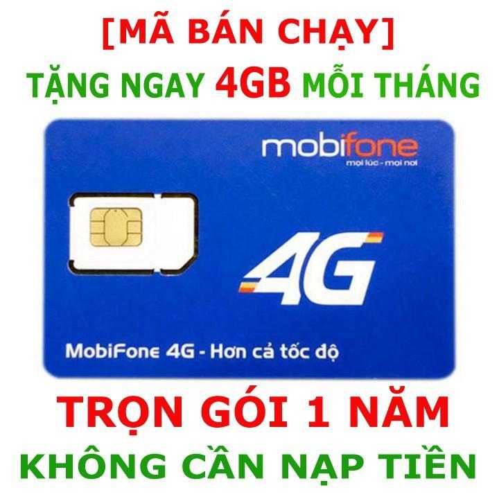 SIM 4G MOBI Miễn Phí 4G Giá Rẻ- Không NẠP TIỀN 1 NĂM- Minh Khai Store Bảo Hành Uy Tín -Chữ Tín Là Vàng Giá Tốt Duy Nhất tại Lazada