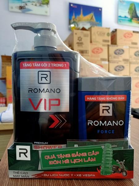 Sữa tắm hương nước hoa cao cấp Romano VIP 650g tặng Romano Force tắm gội 2 in 1(150g) tốt nhất