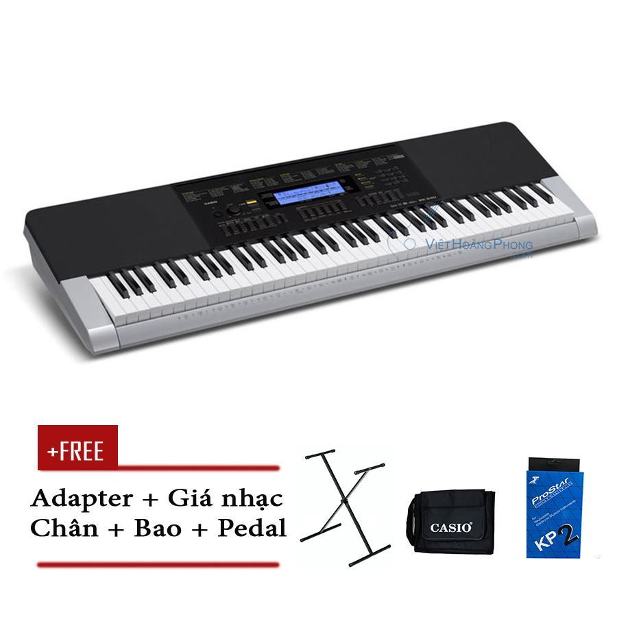 Đàn Organ Casio WK-240 có 76 phím + Chân + Bao + Pedal ( WK240 ) - HappyLive Shop