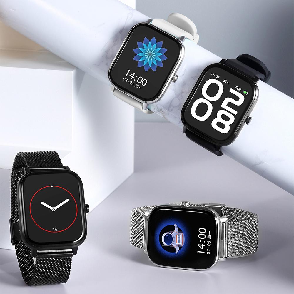 [Hỗ trợ tiếng việt] Đồng hồ thông minh với màn hình cảm ứng 1.54 inch đa chức năng có cuộc gọi Bluetooth chống nước IP67 áp dụng cho điện thoại thông minh của nhiều thương hiệu khác nhau giá tốt