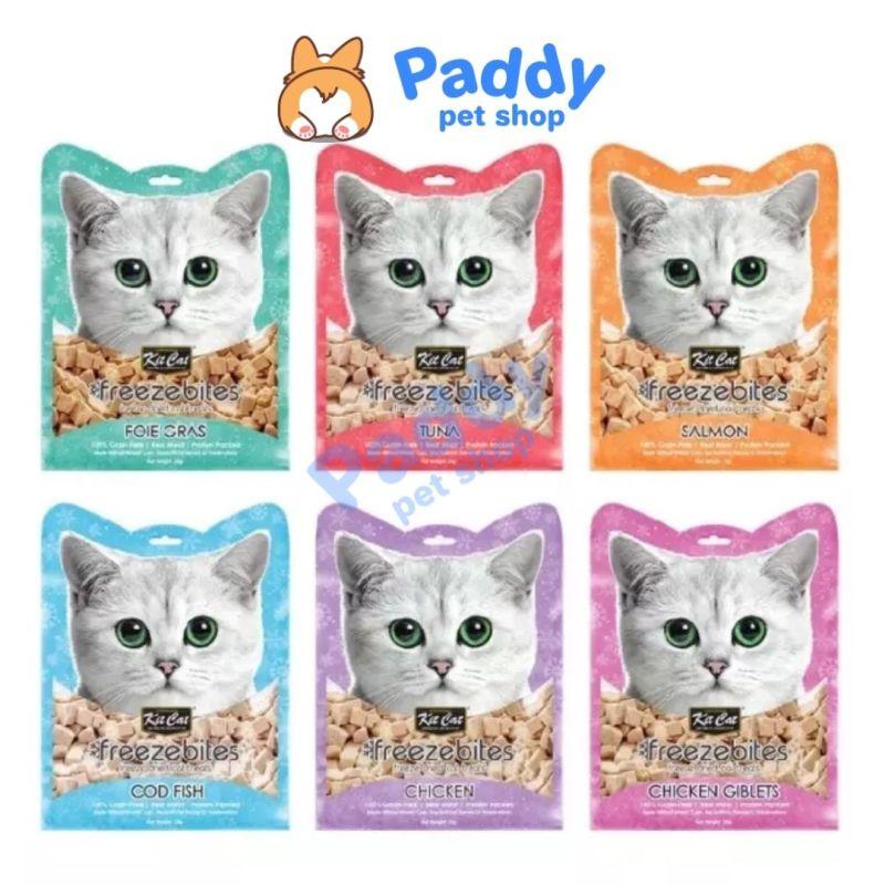 Snack Cá & Gà Tươi Sấy Khô Kit Cat Freeze Bites Cho Mèo 15g