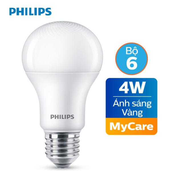 Bộ 6 Bóng đèn Philips LED MyCare 4W 3000K E27 A60 - Ánh sáng vàng