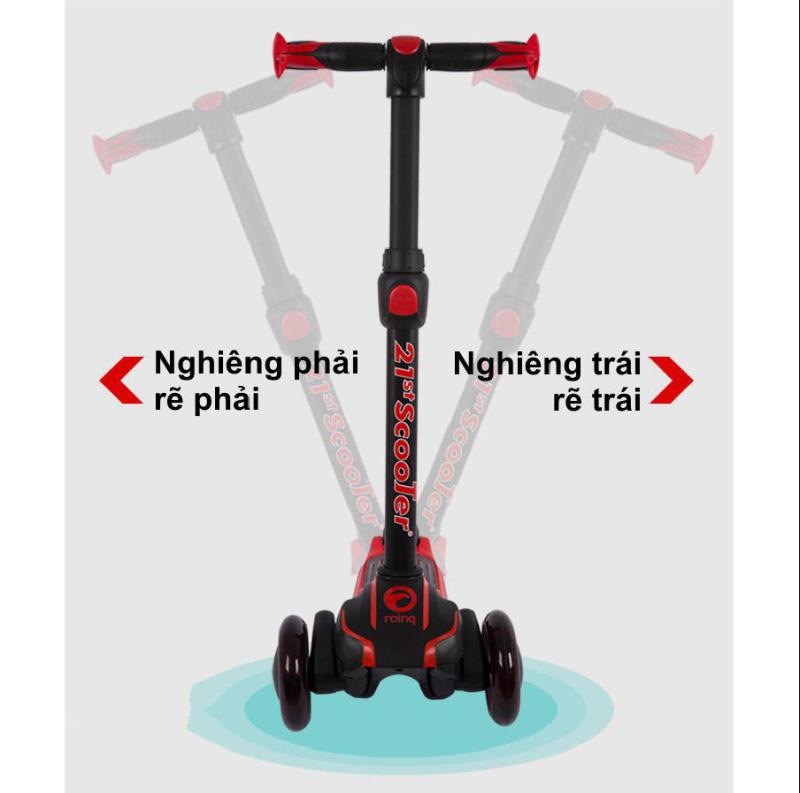 Mua - Xe trượt Scooter thế kỷ 21 có giảm sóc, 3 bánh phát sáng cho bé (tặng kèm 7 món)