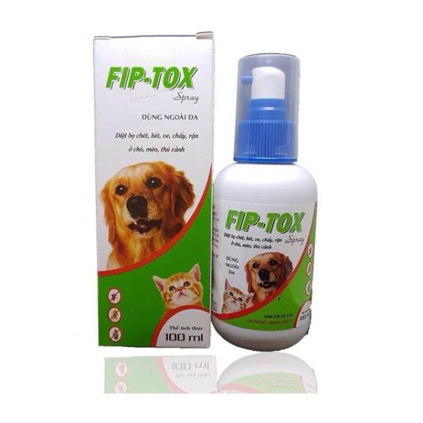 Chai xịt ve rận chó mèo cao cấp Fip Tox chai 100 ml đặc trị ve rận bọ chét ở chó mèo