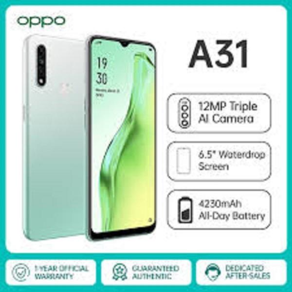 điện thoại CHÍNH HÃNG Oppo A31 2020 2sim (4GB/128GB) mới Fullbox - Camera siêu nét, Chiến PUBG/Liên Quân đỉnh