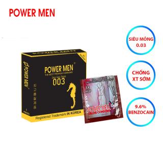 Bao cao su Powermen Điệp Viên Tàng Hình 0.03 chống xuất tinh sớm Hộp 1 chiếc - che tên khi giao hàng thumbnail