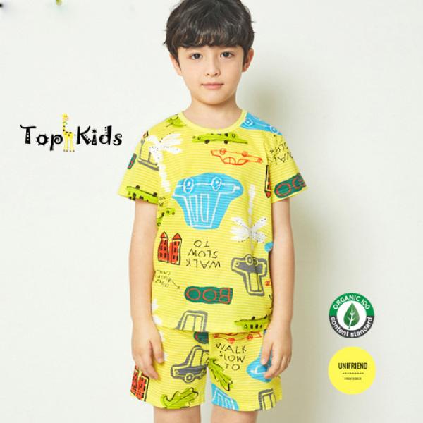 Nơi bán Bộ CỘC TAY OTO VÀNG thương hiệu Unifriend Hàn Quốc , hàng chính hãng , 100% sợi Organic Cotton , mềm mại, thoáng mát, TOPKID
