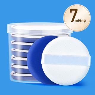 bông phấn tròn trang điểm kèo dây đeo ,bông phấn chuyên dụng 2 màu DA và XANH thumbnail