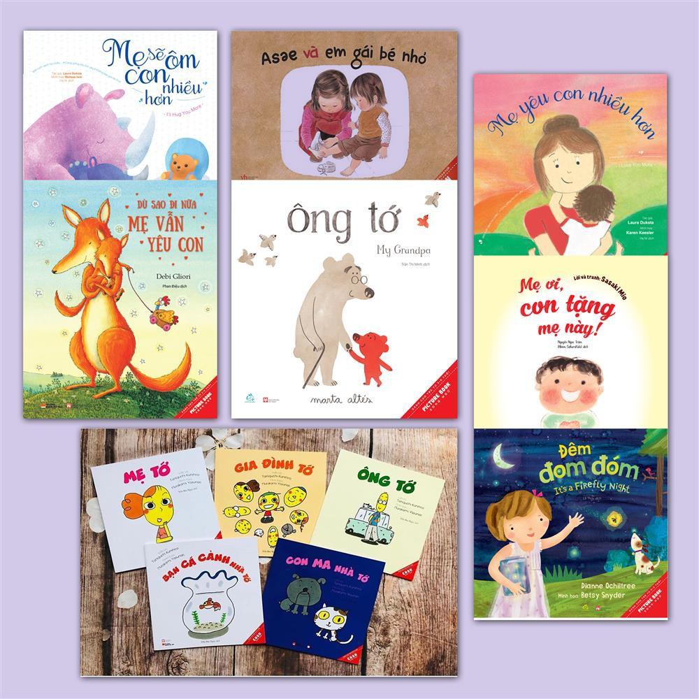 Combo Sách Ehon Nhật Bản Con yêu gia đình mình nhất (12 cuốn)