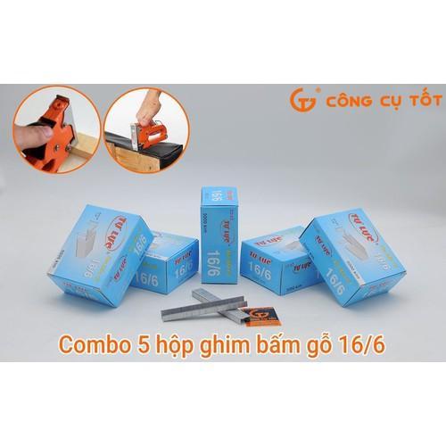 Mua COMBO 5 HỘP Kim bấm gỗ 16-6 25000 đinh kim bằng thép cứng 6mm