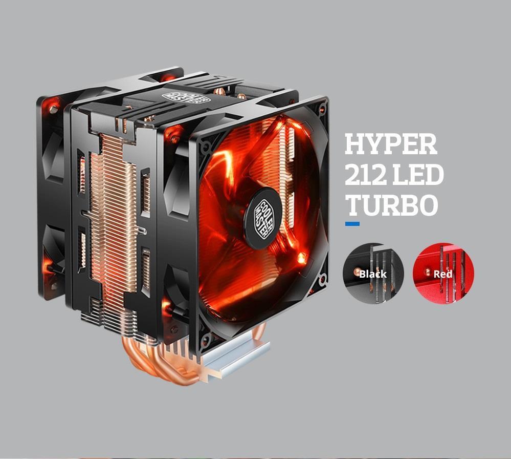 Quạt tản nhiệt CPU Cooler Master HYPER 212 LED TURBO RED