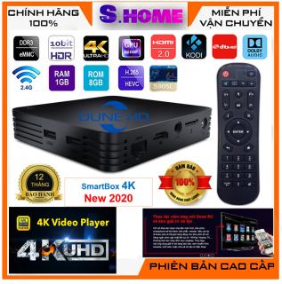 Đầu Dune HD SmartBox 4K 2020 Đầu phát 4Kp60 HDR kiêm Smart TV Box nhỏ gọn nhưng mạnh mẽ Chipset Amlogic S905L - Hàng Chính Hãng