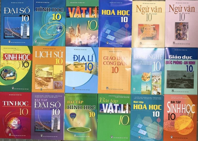 Bộ sách giáo khoa lớp 10 + Sách bài tập toán lý hóa sinh lớp 10 (18 quyển) - không tiếng anh