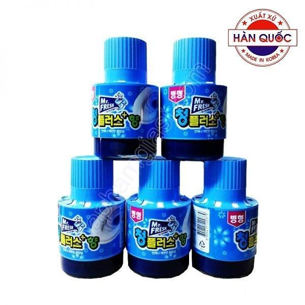 Bộ 5 chai thả tẩy xanh bồn cầu làm sạch diệt khuẩn và làm thơm toilet Mr.Fresh 180g HLS5