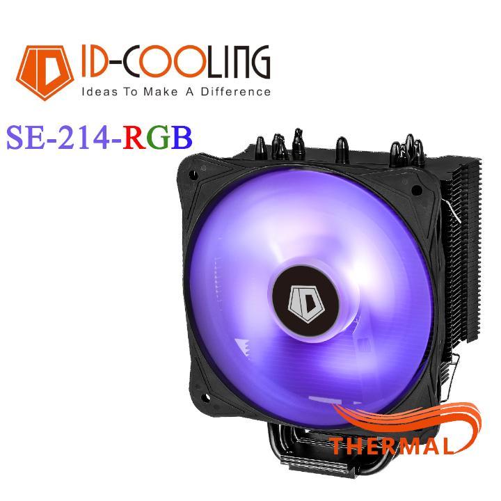 Quạt tản nhiệt cpu ID-Cooling SE-214-RGB [ThermalVN] - Hiệu năng mạnh mẽ với 4 ống đồng cao cấp, rực rỡ 16.7 triệu màu RGB