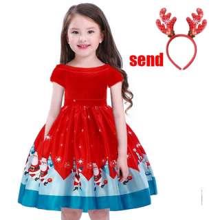 MQATZ Gửi Băng Đô Váy Trẻ Em Quần Áo Ren In Màu Đỏ Váy Công Chúa Váy Tiệc Sinh Nhật Cô Gái SD040