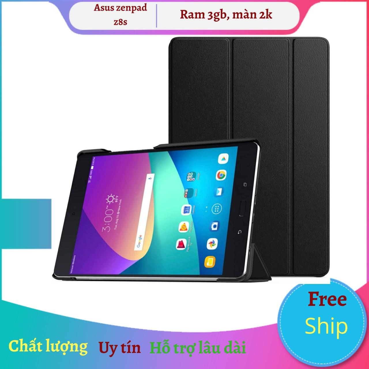 Máy tính bảng Zenpad Z8s wifi, màn hình 2K 7.9 Inch, Android 7.0, chip Snapdragon 652, tặng dán 3 lớp, Khăn lau, Phần mềm bản quyền tienganh123, luyên thi 123.