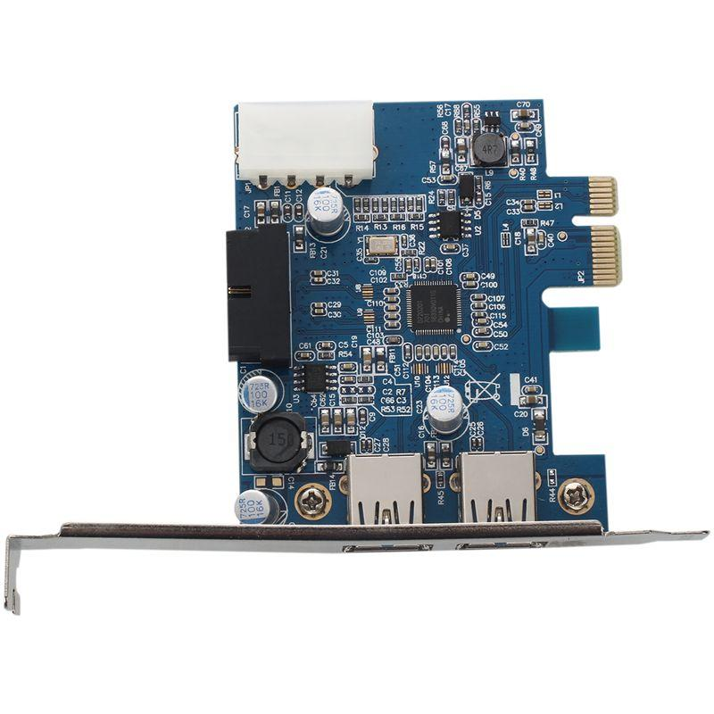 Giá 2-Port USB 3.0 PCI-E Express Card HUB Adapter Card Internal 20Pin 4Pin