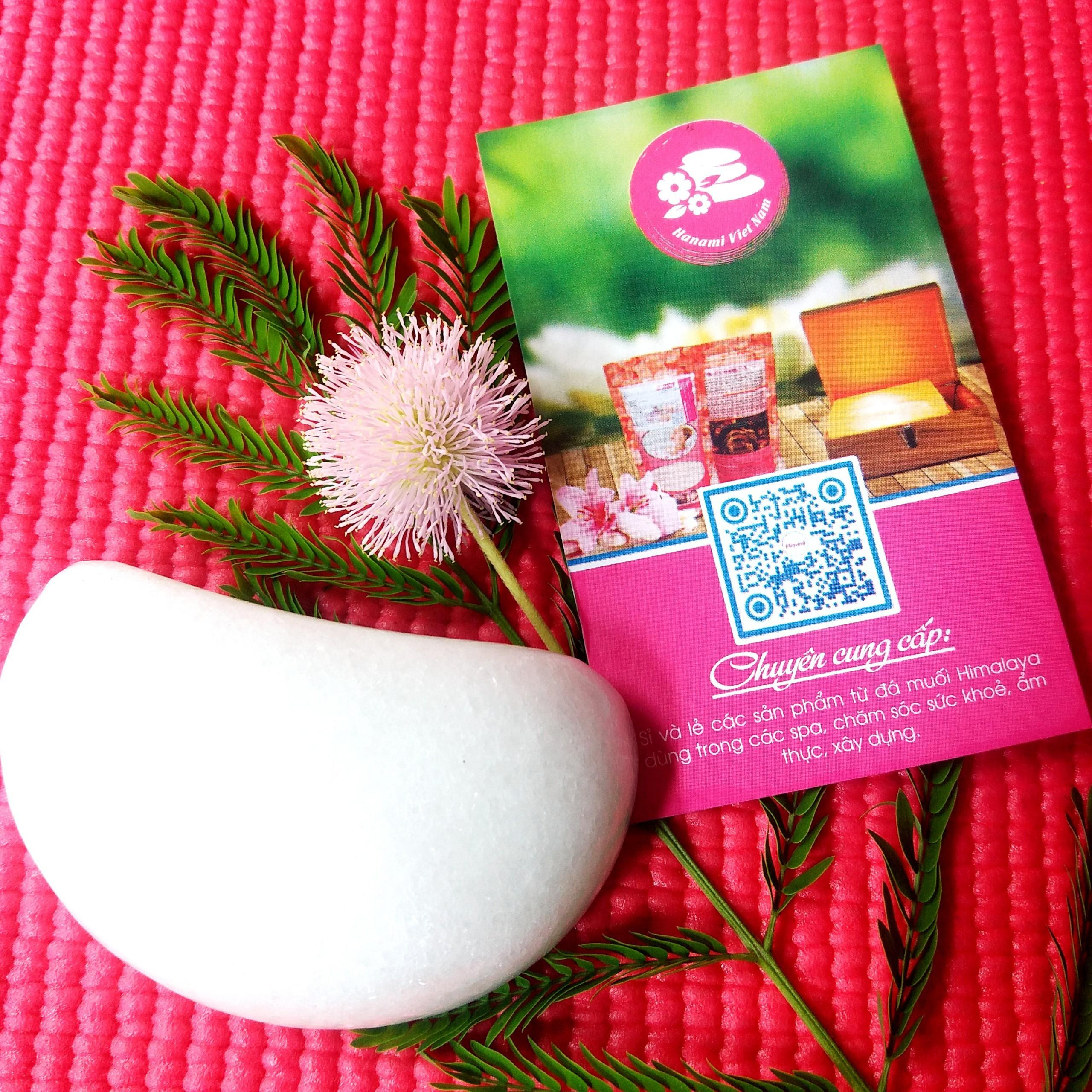 Cặp Đá Massage Bầu Mắt Bằng Đá Cẩm Thạch - Liệu Pháp Massage Đá Lạnh - 2 Viên