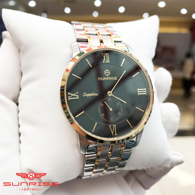 Đồng hồ Nam Sunrise DM1114SWA , Full hộp , Thẻ bảo hành hãng , Kính Sapphire chống xước , chống nước , dây thép 316L bán chạy