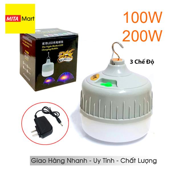 Bóng đèn LED sạc tích điện 200W - 100W 3 chế độ(4-6H) - MitaMart SG