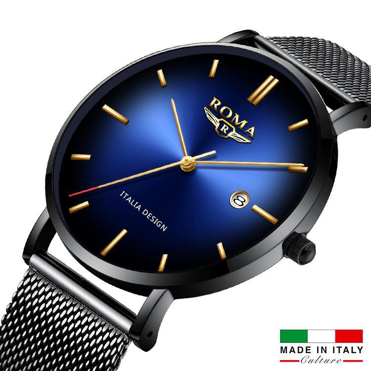 (Siêu giá) Đồng Hồ Nam ROMA ITALIA Mặt Chuyển Màu Nghệ Thuật - Dây Titanium Siêu Bền bán chạy