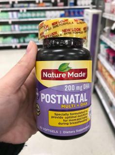Viên uống Nature Made Postnatal + DHA 60 viên thumbnail