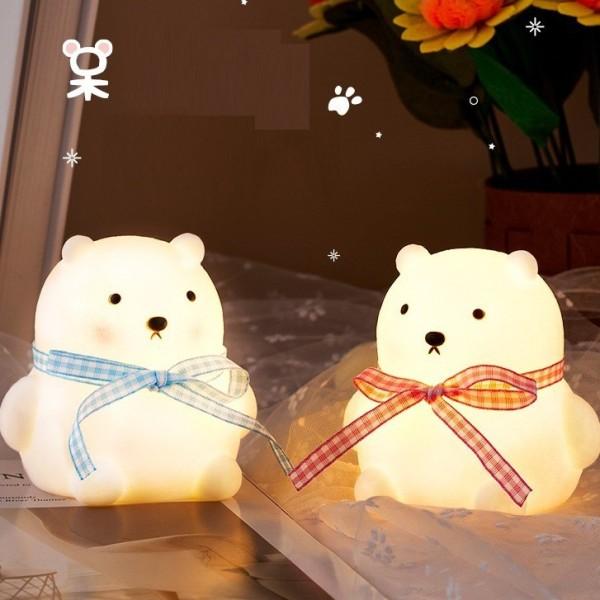 Đèn Ngủ Để Bàn Gấu Thỏ Cute Chạy Pin